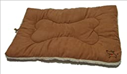 Best Pet Supplies Double-Sided Crate Mat, X-Large, Light Brown Suede