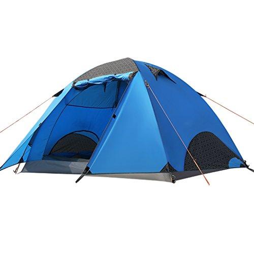 熱意バーチャル世界に死んだ3-4人の人々アウトドアキャンプテントシェルターから風と雨 のテント (色 : Orange)