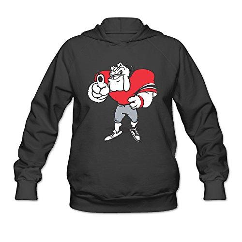 AK79 Women's Sweater Georgia Bulldogs Cartoon Figure Size S Black