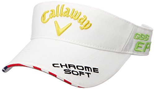 やるハックさておき(キャロウェイ アパレル) Callaway Apparel [ レディース] 定番 ロゴ入り サンバイザー (ツアーモデル) / 247-8990900 / 帽子 ゴルフ