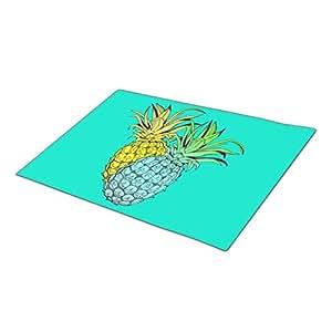 Tropical Pineapples Monogrammed Door Mat Indoor Floor Mats