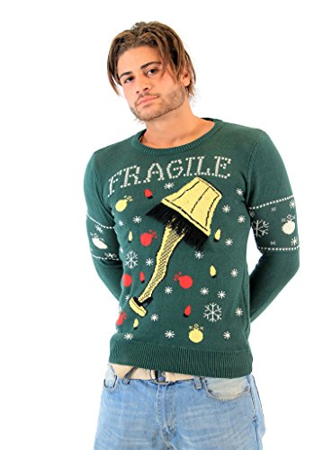 A Christmas Story Fragile Leg Lamp Light Up Sweater