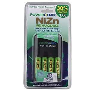 TY Rápido 3-5hrs poder enix NiZn cargador con 4 pilas AA