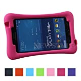 NEWSTYLE Shock Proof Case Light Weight Kids Super Protection Cover with Audio Amplifier Design For Samsung Galaxy Tab 4 7.0-inch Tablet SM-T230 SM-T231 SM-T235 (Rose)