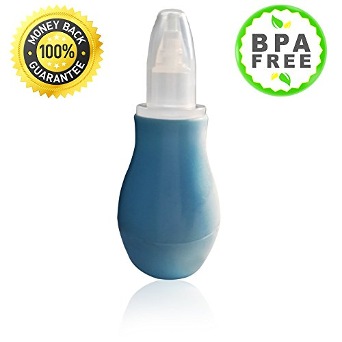 Nose Sucker And Cleaner From Amty Baby Nasal Aspirator With Soft Bulb Syringe Suitable For Congestion Easy To Clean BPA Free Blue Color The Best Booger Sucker That Brings Joy To Your Baby's Life! by Amty Baby
