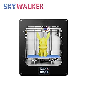 Skywalker hz-334-a ddkun160 max 3d printer, fused deposition type (fdm), supports tf card plug and plug and usb connection printing method,high precision printing with pla, 200×200×200mm