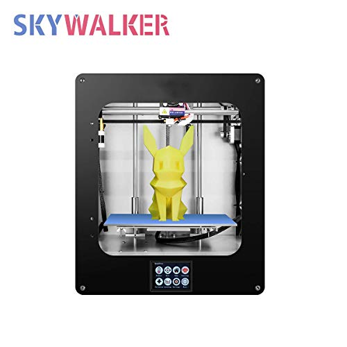 SKYWALKER HZ-334-A DDKUN160 max 3D Printer, Fused Deposition Type (FDM), Supports TF Card Plug and Plug and USB Connection Printing Method,High Precision Printing with PLA, 200×200×200mm ()