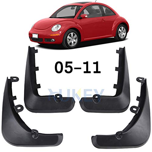 XUKEY Auto Molded Splash Guards for Volkswagen VW Beetle 2005-2011 Mud Flaps - Front & Rear 4 Pieces Set