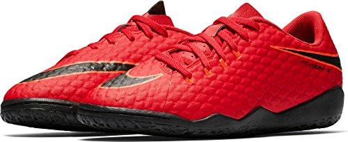 Nike Unisex-Kinder Jr Hypervenomx Phelon III IC Fußballschuhe UNIVERSITY RED/WHITE-TEAM RED
