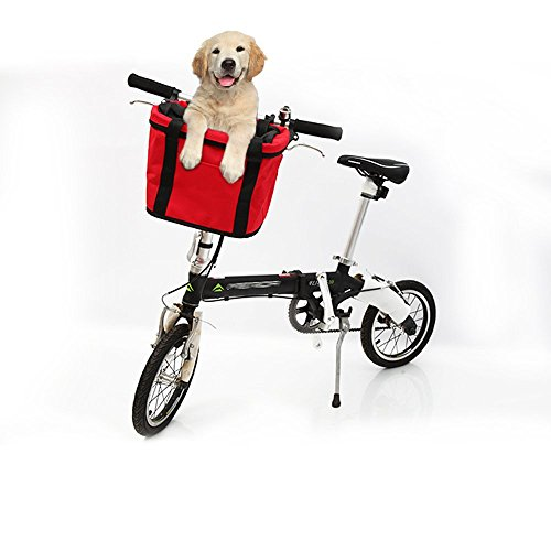 Bicycle Front Handlebar Basket Detachable Bag Pet Dog Carrier Bag Bike Baskets