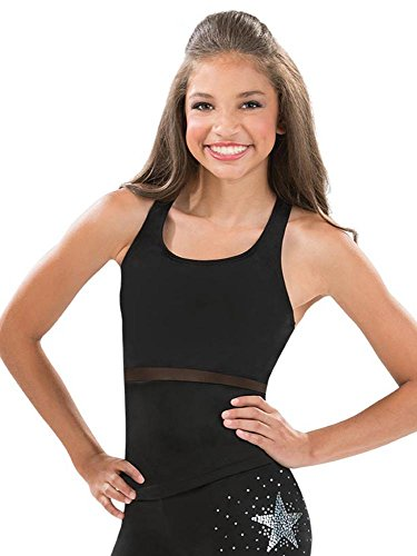 464c735616496f GK Black Mesh Accent Cheer Top (Child Large)