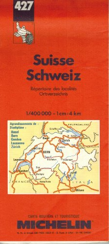 book cover - Michelin Country Map: Switzerland (Michelin Main Road Maps) (French Ed... - Pneu Michelin (Firm)