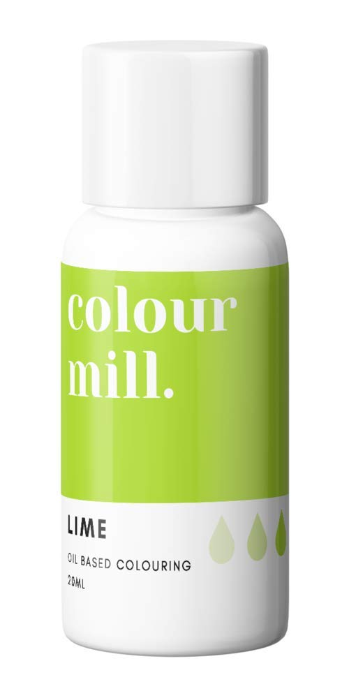 Colour Mill Oil-Based Food Coloring, 20 Milliliters Lime