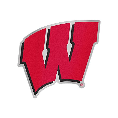 Wisconsin Badgers Ncaa Peel - NCAA University of Wisconsin Chrome Auto Badge Decal