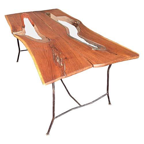 Table A Manger En Bois De Palissandre Et Tubes De Fer Kalou