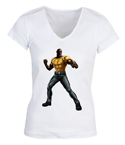 Luke Cage Fight Standing Up Damen V-neck T-shirt