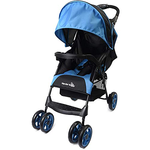 Wonder Buggy Wonderbuggy Mimmo Deluxe Lightweight One-Hand Folding Multi-Position Compact Stroller – Teal Blue, Blue