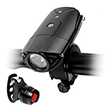 KeepSa USB Rechargeable Bike Light Set, Bicycle Lights Front and Back, Waterproof 700 Lumen Headlight, Free Taillight, Handlebar and Helmet Mount Included