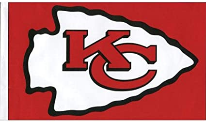 Amazon Com Old Glory Kansas City Chiefs Logo 3 X5 Flag Outdoor Flags Sports Outdoors