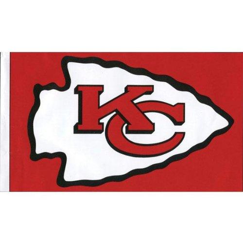 (Old Glory Kansas City Chiefs - Logo 3'x5' Flag)
