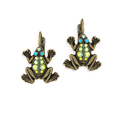 Pave Frog Leap of Faith Earrings By La Contessa - ()