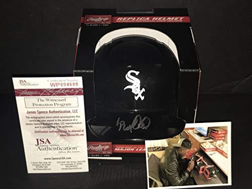 Luis Robert Chicago White Sox Autographed Signed Mini Baseball Helmet JSA WITNESS COA