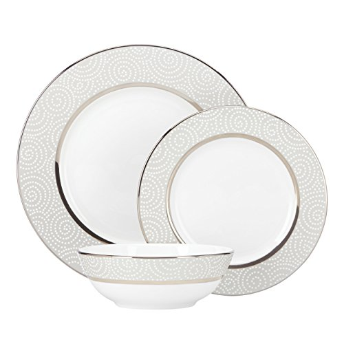Lenox Pearl Beads 3-Piece Place Setting, White