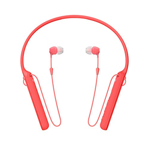 Sony WI-C400 Wireless In-Ear Headphones with up to 30 Hours Battery Life - Red