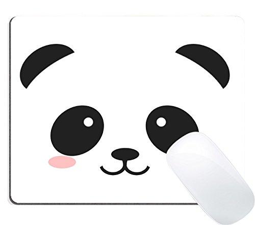 ouse Pad Custom Design, Cute Smiling Cartoon Panda Mousepad Mat ()