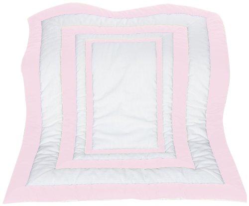 Baby Doll Bedding Modern Hotel Style Crib Comforter, Pink