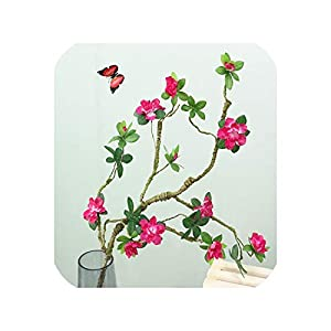 The Hot Rock Artificial Azalea Flower Simulation Flowers Fake Flowers Long Branches Silk Azalea Flowers Wedding Decor 107