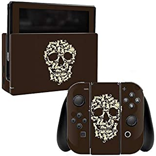 MightySkins Skin Compatible with Nintendo Switch - Cat Skull | Protective, Durable, and Unique Vinyl Decal wrap Cover | Easy to Apply, Remove, and Change Styles | Made in The USA