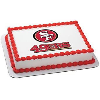 Fine San Francisco 49Ers Licensed Edible Cake Topper 4584 Amazon Com Funny Birthday Cards Online Overcheapnameinfo