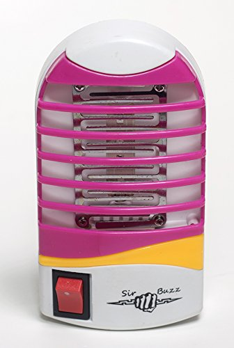 Bug-Zapper by SirBuzz   Electronic Insect Killer   Anti-Mosquito Trap for Indoor and Outdoor   Fly and Pest Pink Night-Lamp