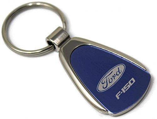 Au-Tomotive Gold Ford F-150 F150 Logo Blue Tear Drop Key Chain INC