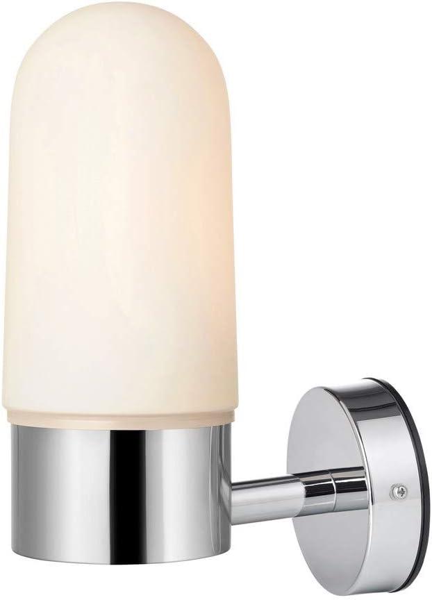ZEN-Applique pour salle de bain M/étal//Verre H27cm Blanc et Chrome Marksl/öjd