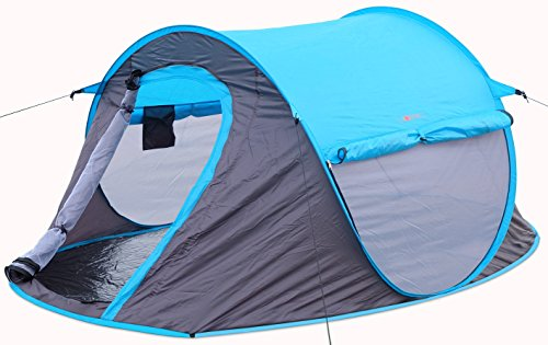 2 person Pop Up Tent – Opens Instantly in Seconds and is Perfect for Backpacking, Camping or any Other Outdoor Activity. Portable and Comfortable Fits Two Persons with Quick and Easy Setup