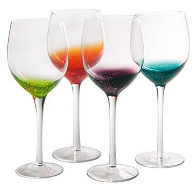 Artland Fizzy Goblet, Multicolor, Set of 4