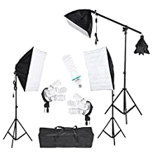 GOWE Photography Photo Studio Light Lighting Tent Kit with Softbox Light Socket Cantilever Stick 45W 135W Bulb Light Stand