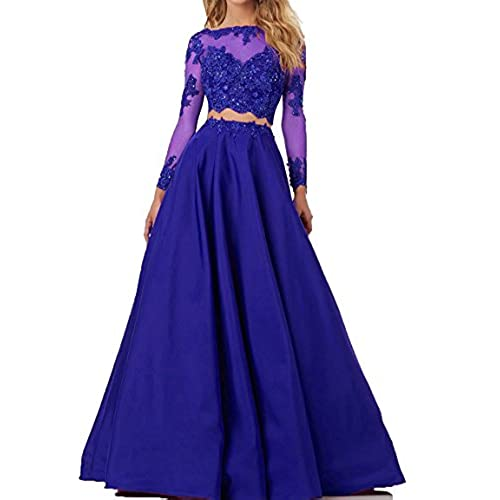 Royal Blue Two Piece Prom Dress: Amazon.com