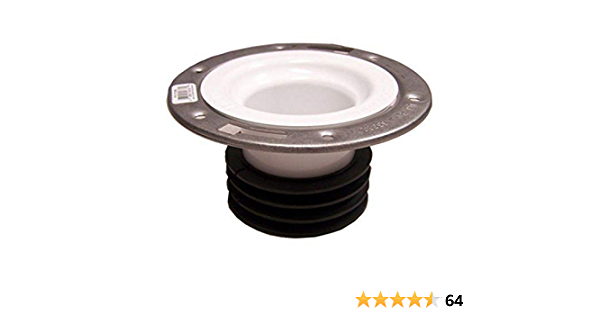 """Genova Products 75158S Universal Closet Flange with Stainless Steel Ring 4/"""" Ne"""