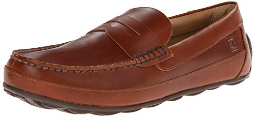 SPERRY Men's Hampden Penny Loafer, Tan, 12 (Sperrys Loafers Men)