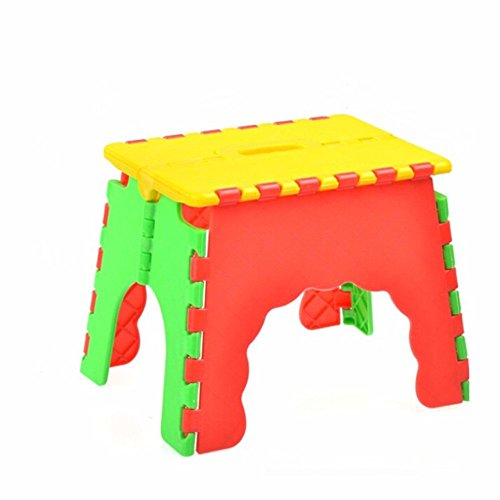 Sports Child Kids Folding Camping Picnic Step Stool Plastic Foldable Chair
