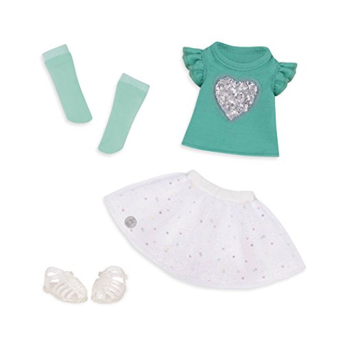 Glitter Girls by Battat - Sparkling with Style Glittery Top & Skirt Regular Outfit - 14