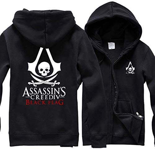 Assassin S Creed Black Flag Fashion Cotton Hoodie Full Sleeve