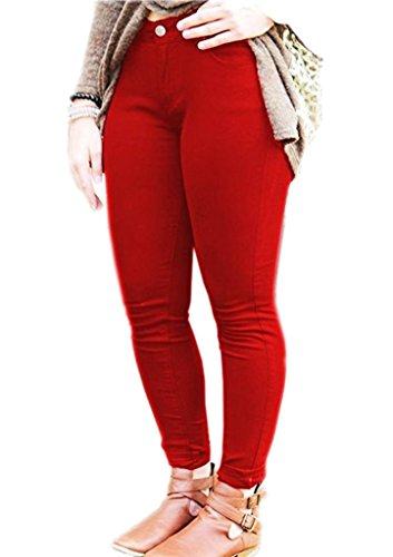 Vaqueros Rojo Mujer para Fashions SA 5qCpwYUn