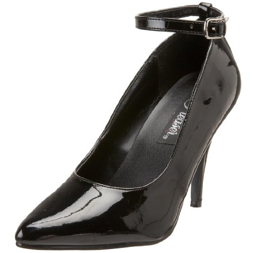 Pump Vanity Ankle Patent Strap Women's Pleaser 431 Black 7XwnWp7xR