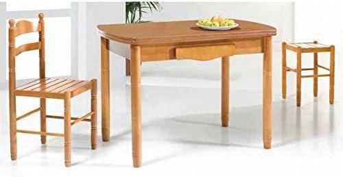 Amuebla 337. Mesa DE Cocina DE 130 X 80 CM. Ovalada Extensible DE ...
