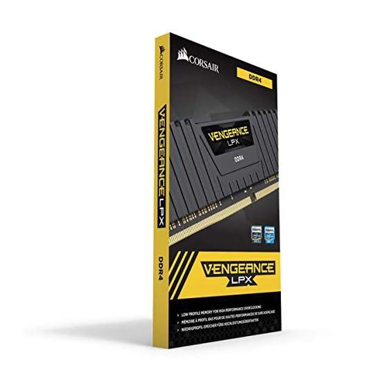 Corsair Vengeance LPX 16GB (2 X 8GB) DDR4 3600 (PC4-28800) C18 1.35V Desktop Memory - Black 41eBD1ij4ML. SS555