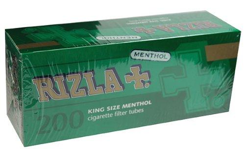 Rizla Green Menthol RYO Cigarette Tubes - King Size 200ct Box (50 Boxes) Full Case! by Rizla